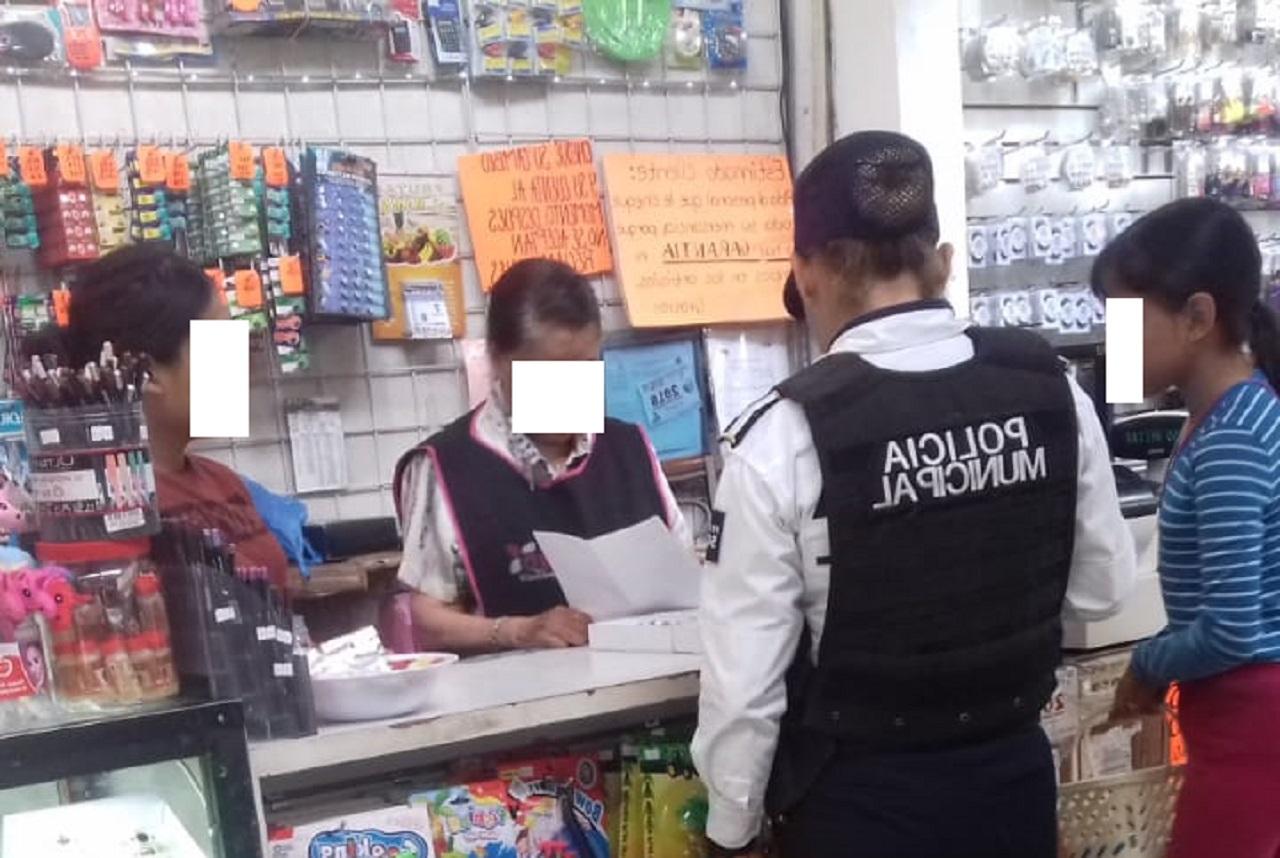 Mediante acercamiento con negocios, Policía Municipal ha detenido 8 ladrones de establecimientos