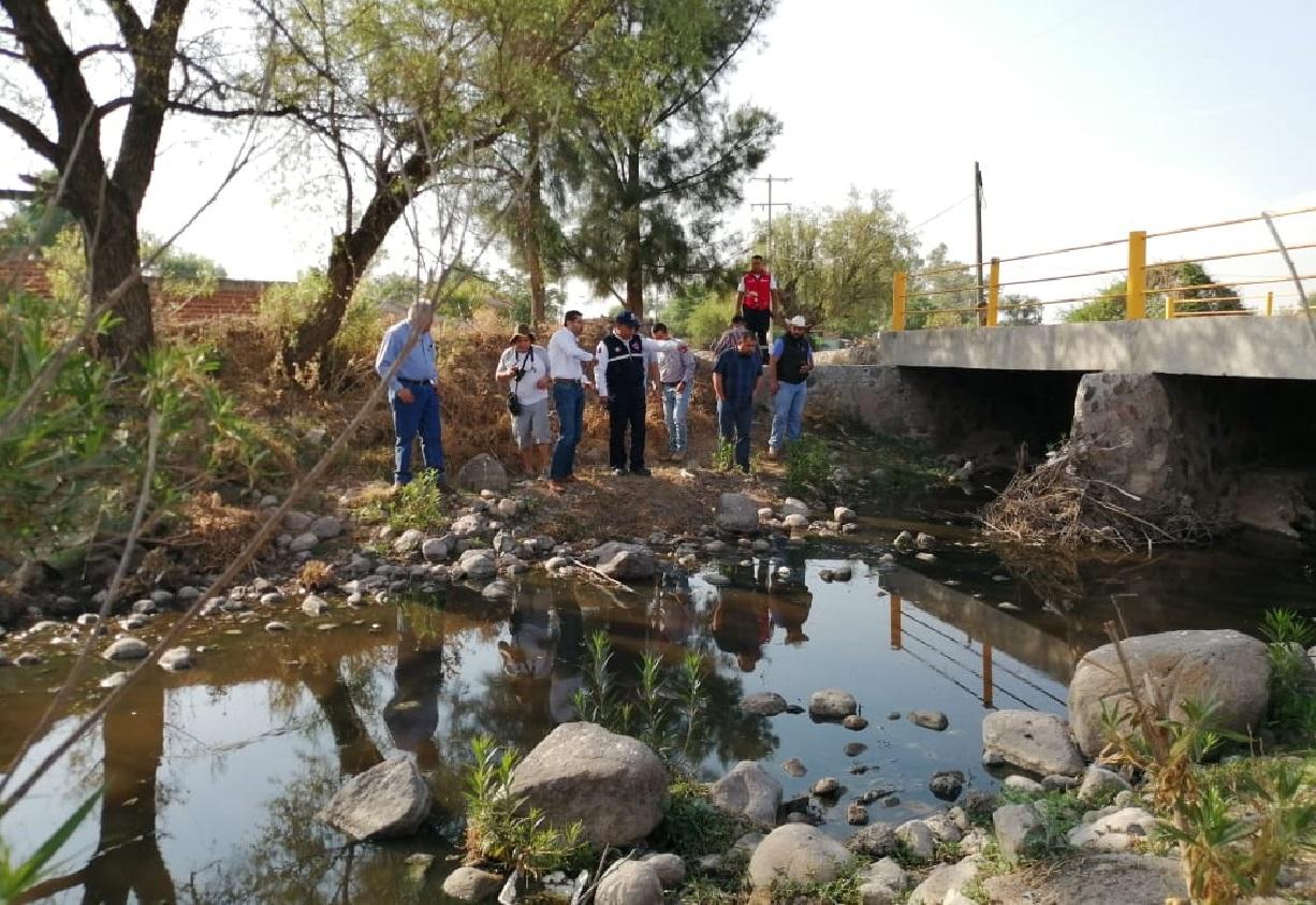 Supervisan punto de riesgo en Arroyo Santa Rita