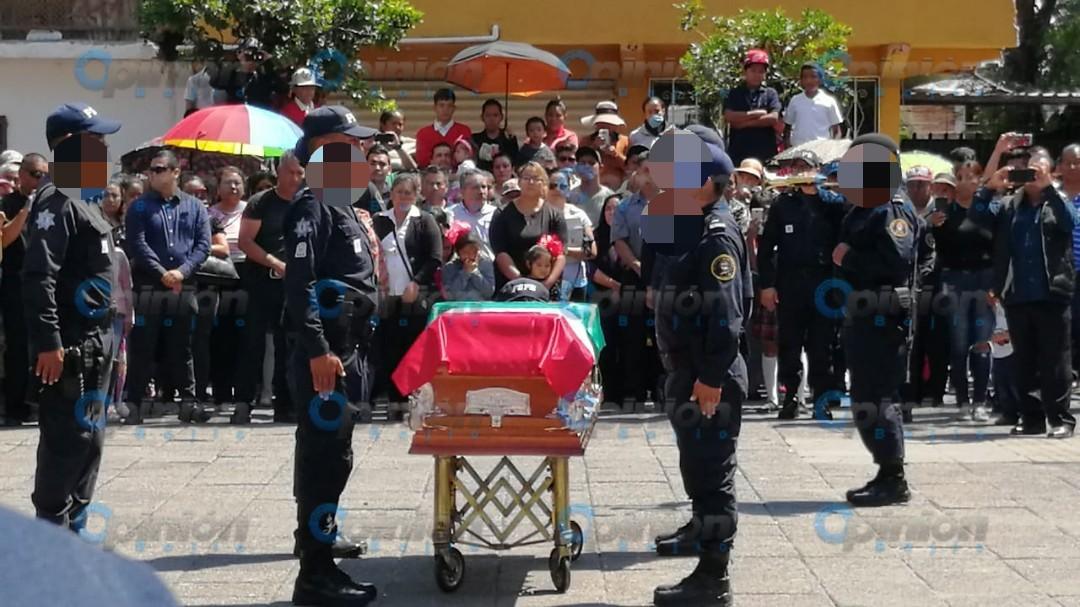 Con llantos y ausencia de titular de la SSPE, dan último adiós a policías de la FSPE asesinados en Cortazar