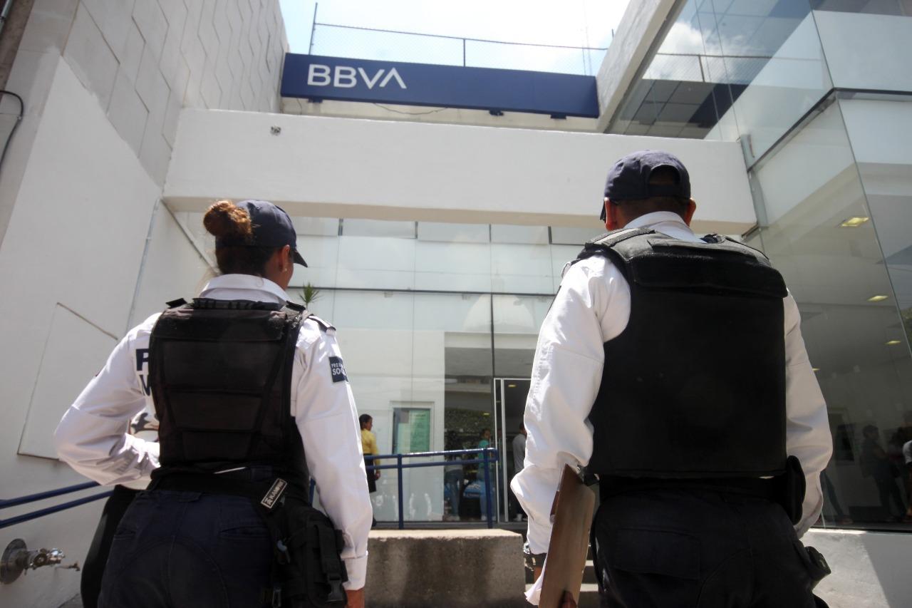 Se reducen asaltos a cuenta-habientes bancarios, con programa de acompañamiento policial.