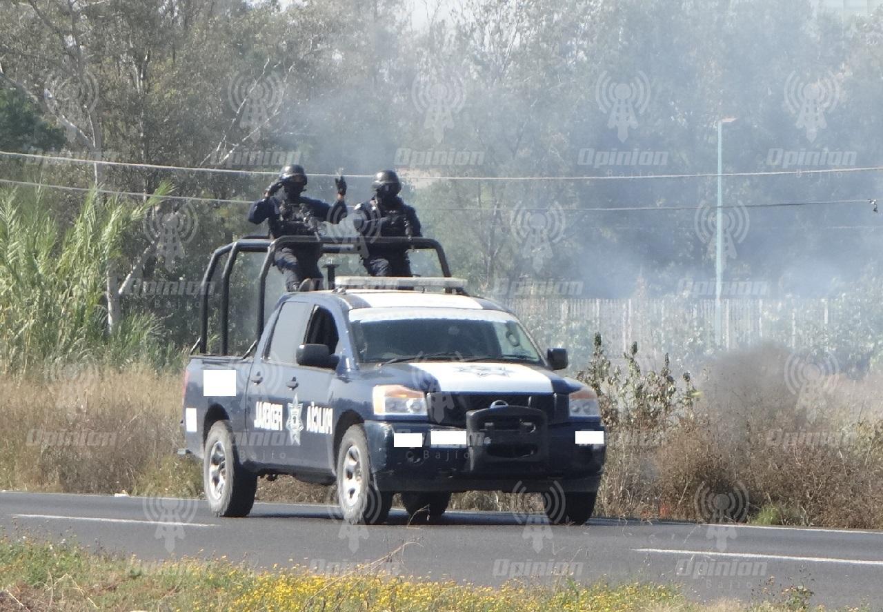Balacera entre elementos federales y estatales contra asaltantes de autos