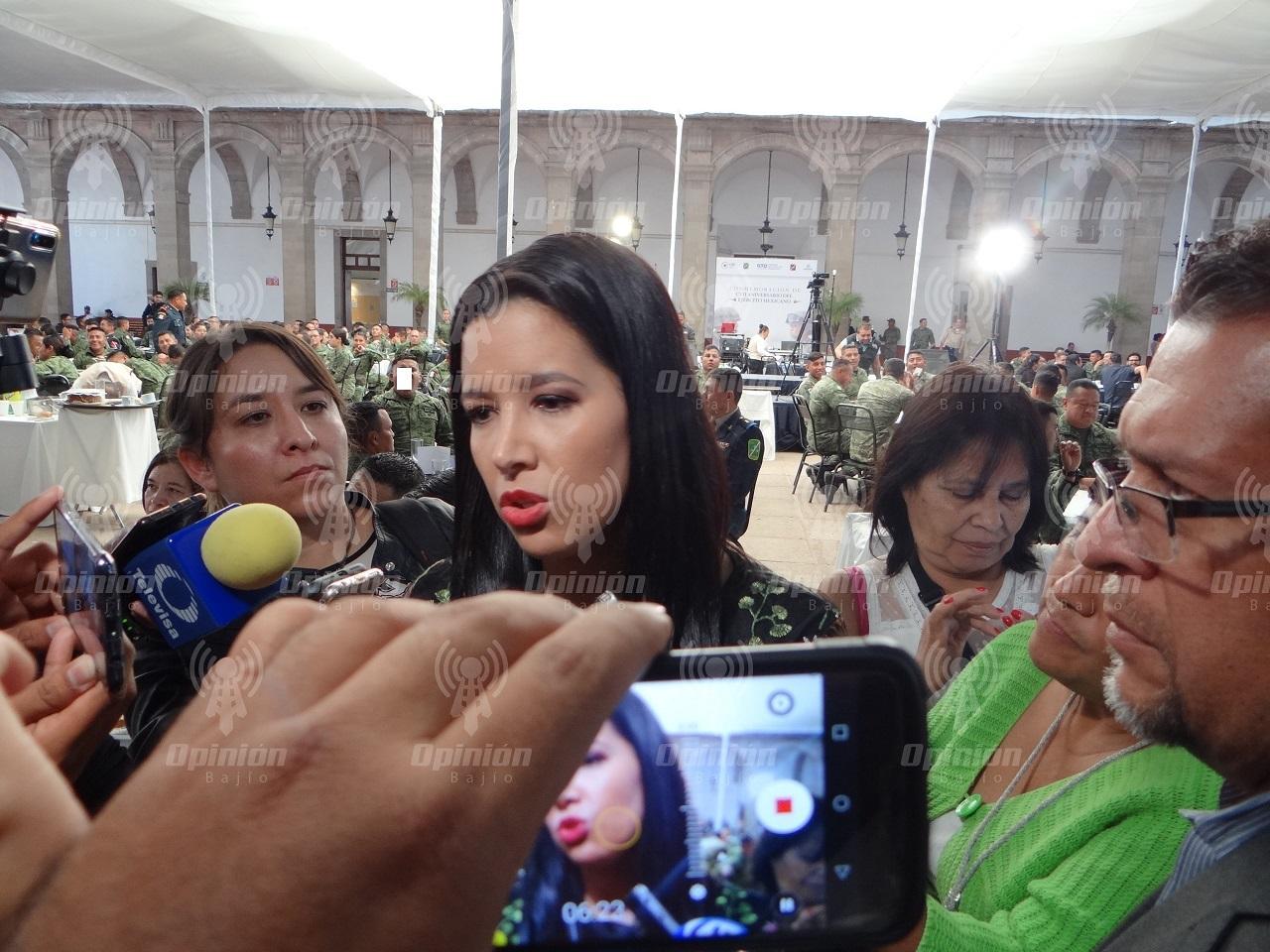 Pese a ataques contra policías municipales, no hay deserción masiva en Guanajuato: Sophia Huett
