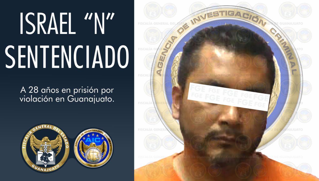 28 años de cárcel a sujeto acusado de violar a menor de edad