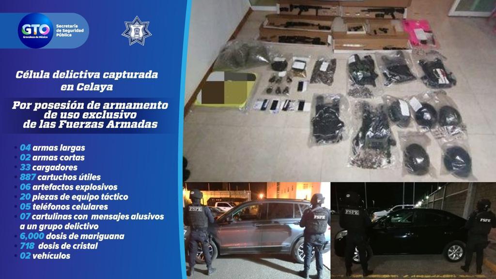 Detienen a célula criminal en Celaya