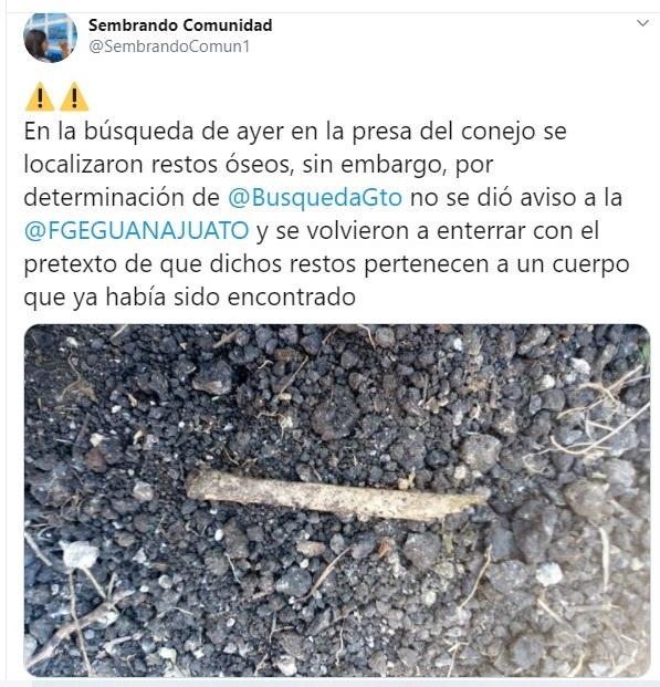 Hallan más restos en fosas de Guanajuato… por orden de gobierno estatal, los vuelven a enterrar y se niegan a levantar más indicios