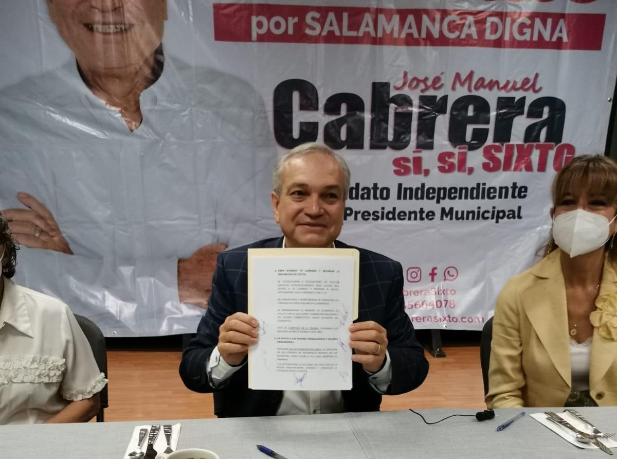 Inicia campaña Cabrera Sixto en Salamanca