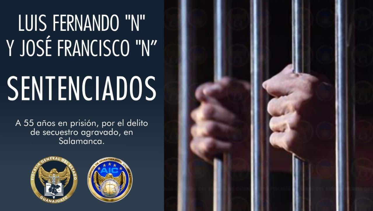 55 años de cárcel para 2 criminales que secuestraron a una menor de edad