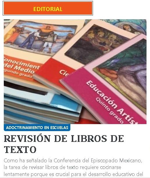 Modificación de libros de texto, con riesgo de adoctrinamiento y manipulación ideológica: Iglesia