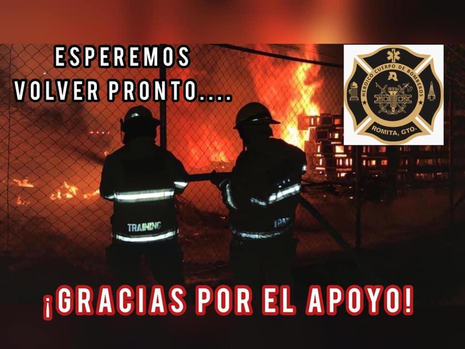 Por carencias en equipos, bomberos de Romita dejaron de operar