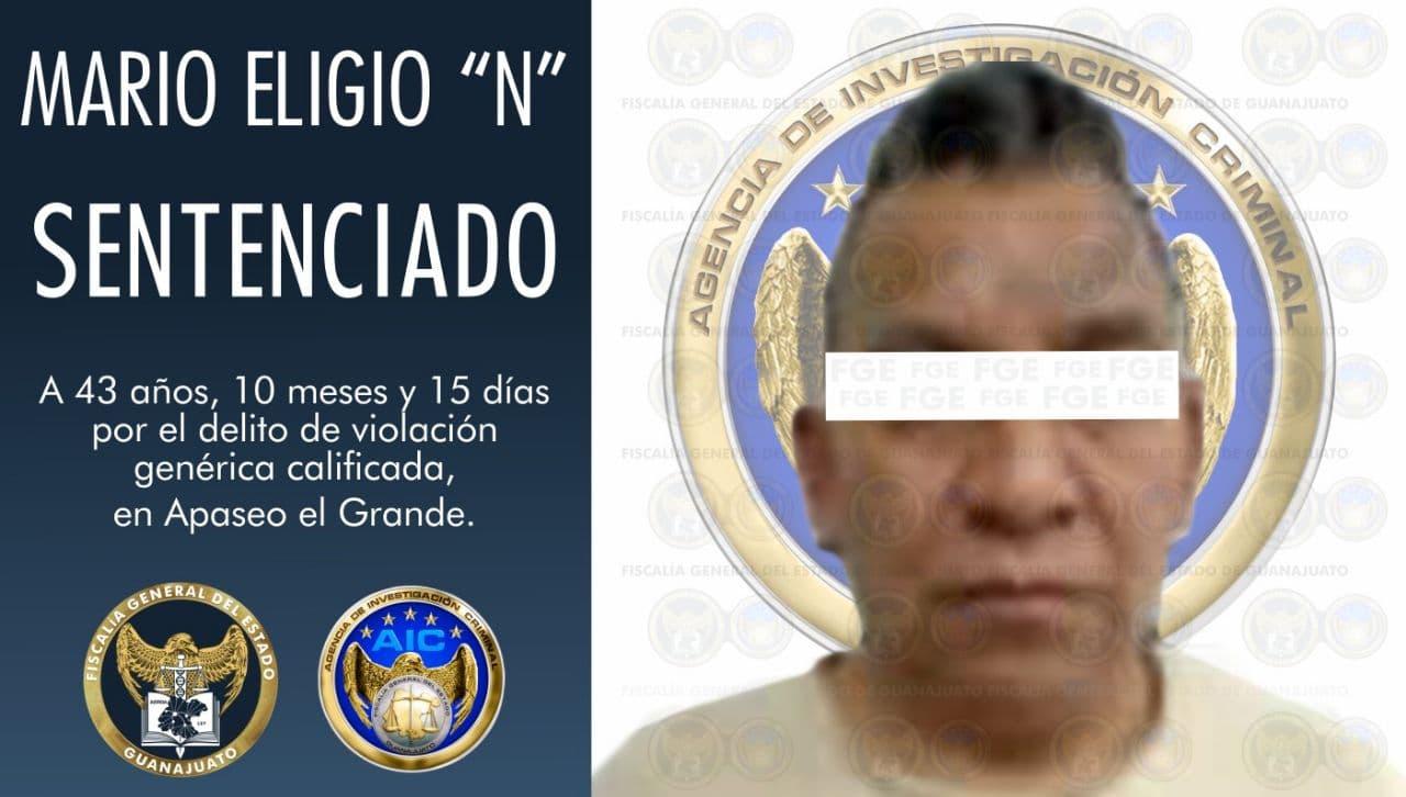 Le dictan 43 años de cárcel por violar a una menor de edad
