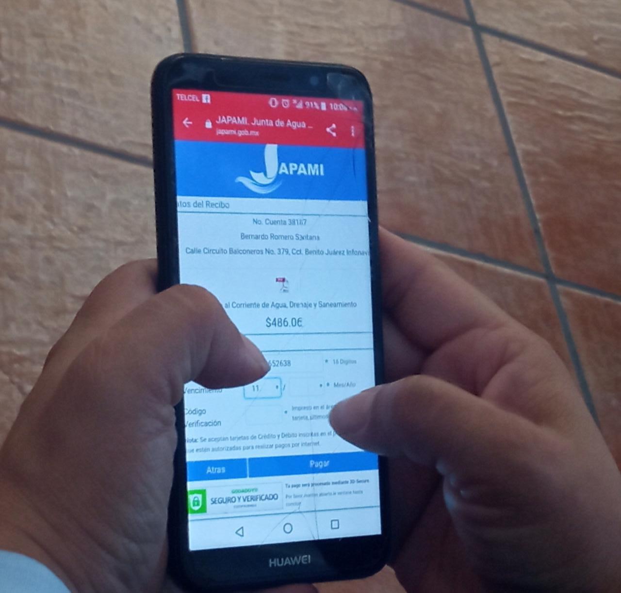 ¡Con tu recibo digital de JAPAMI, puedes pagar en línea!