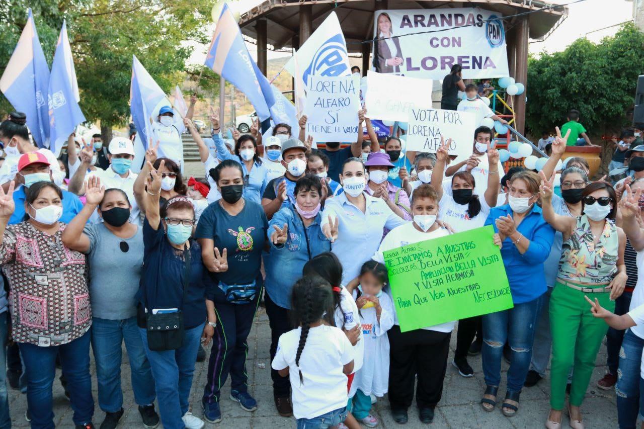 Llama Lorena Alfaro a no permitir que llegue el retroceso a Irapuato