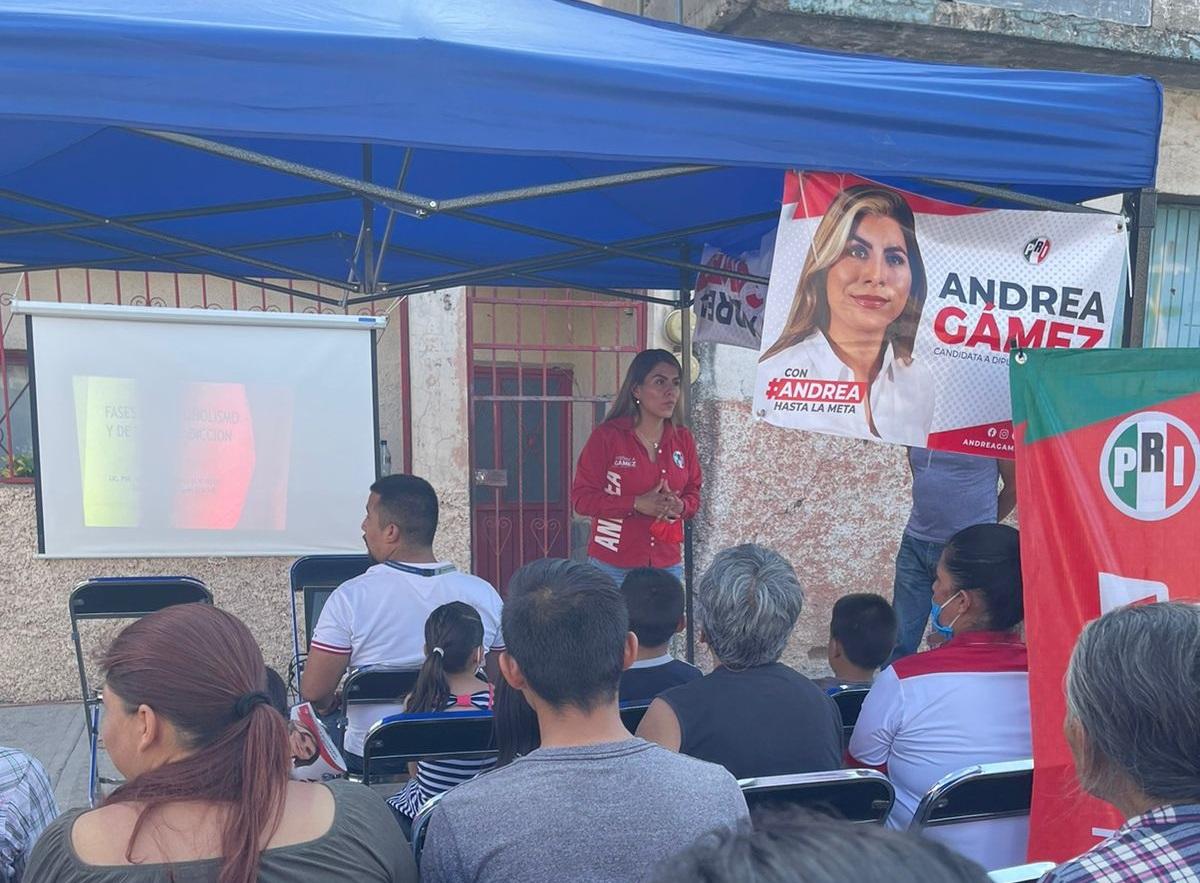 Unidad y seguridad, prioridades de Andrea Gámez