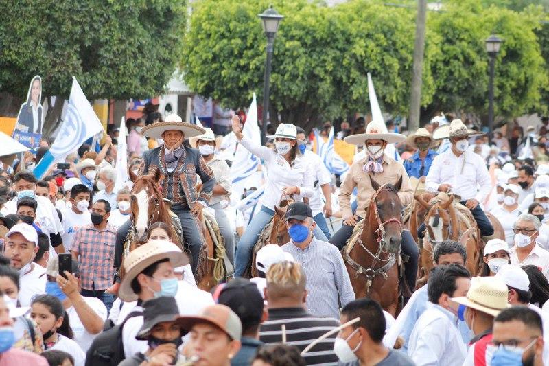 Cuidar el voto, pide Lorena Alfaro en cierre de campaña en zona rural