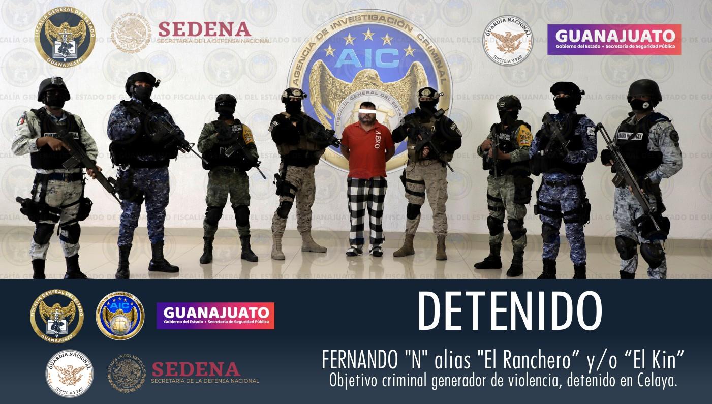 """Capturan fuerzas federales y estatales al """"ranchero"""", líder de grupo criminal ligado a muchos asesinatos"""