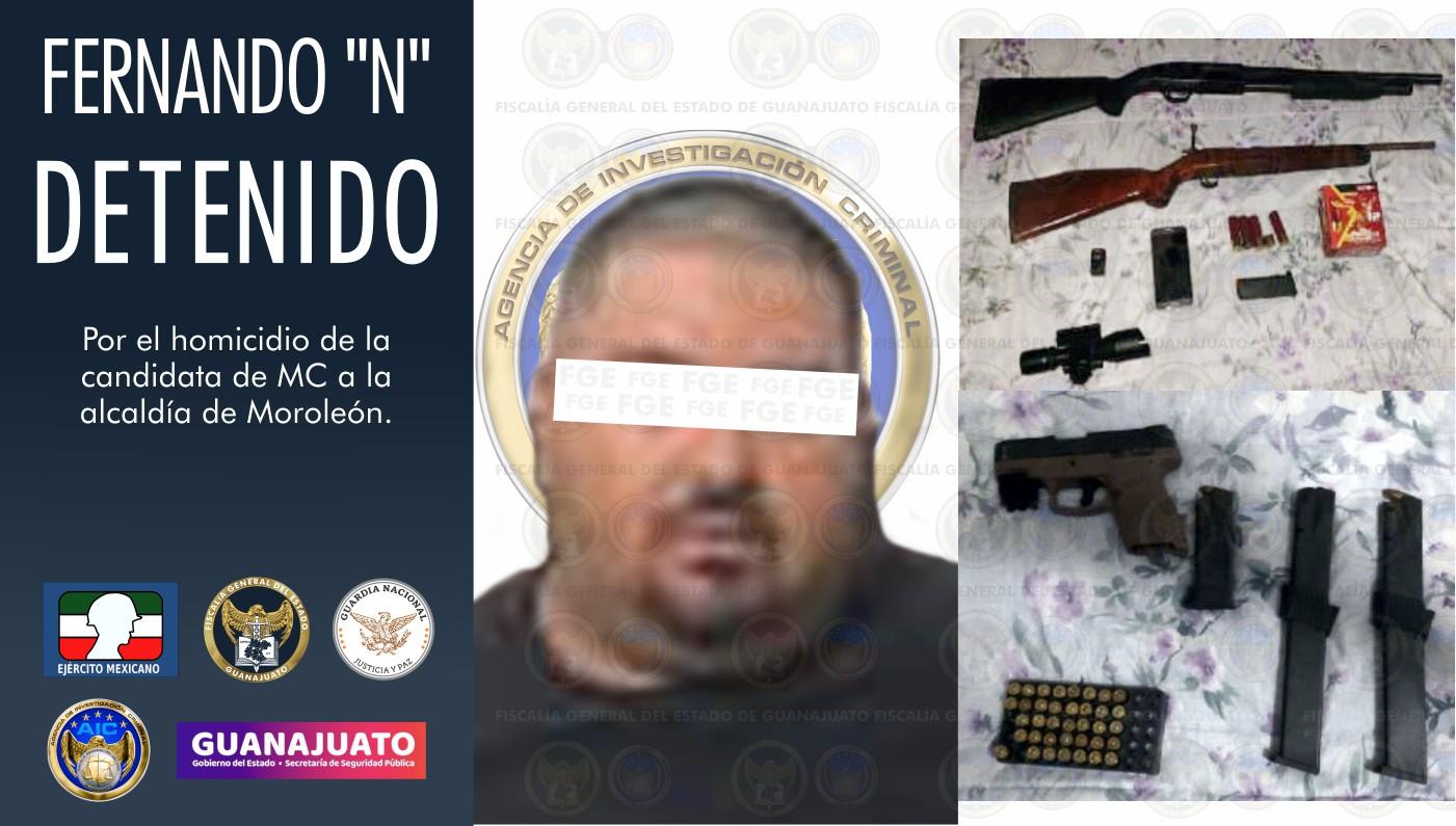 Detienen a uno de los asesinos de candidata de MC Alma Barragán; sigue búsqueda de los otros responsables