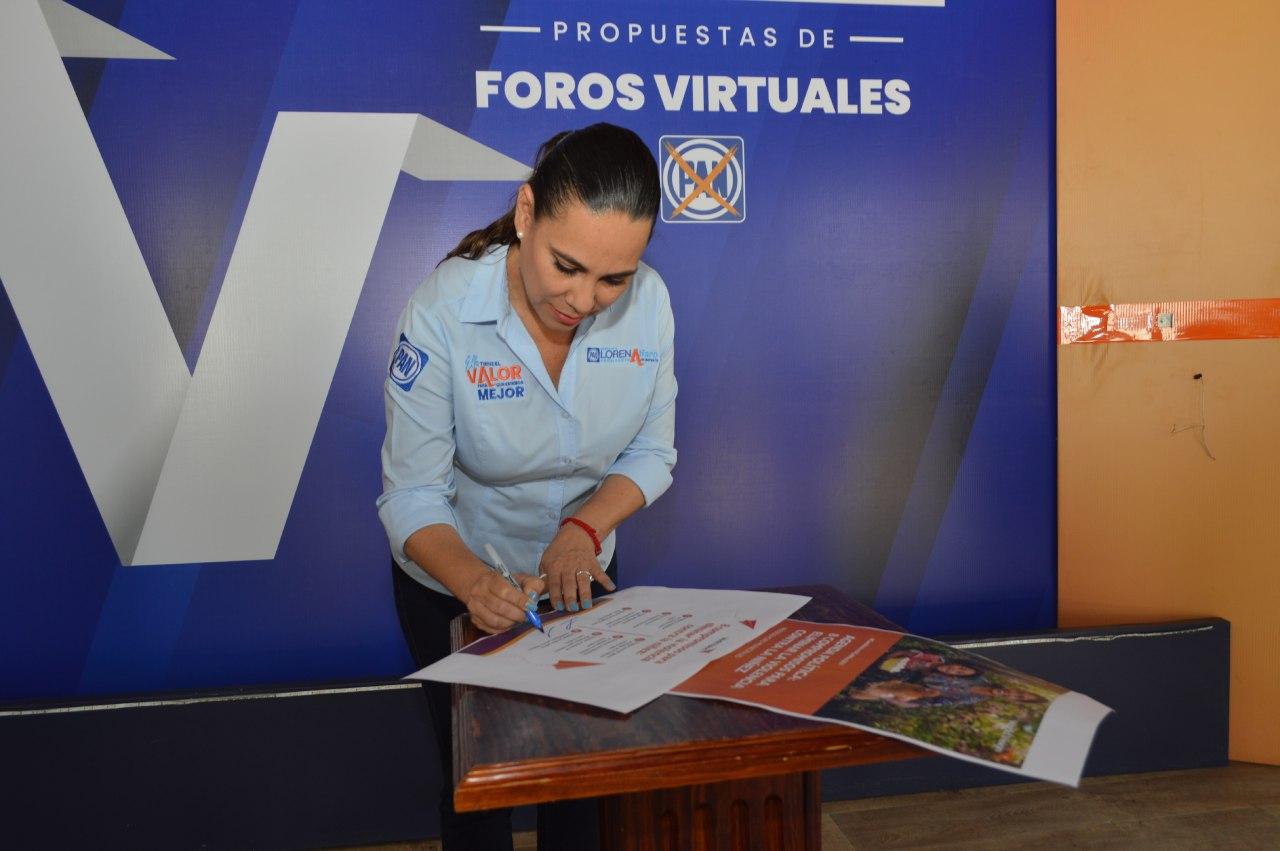 Firma Lorena Alfaro acuerdos para protección de la vida y la niñez