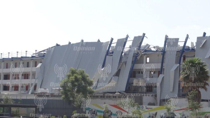 En próximos días iniciará retiro de techo dañado del estadio
