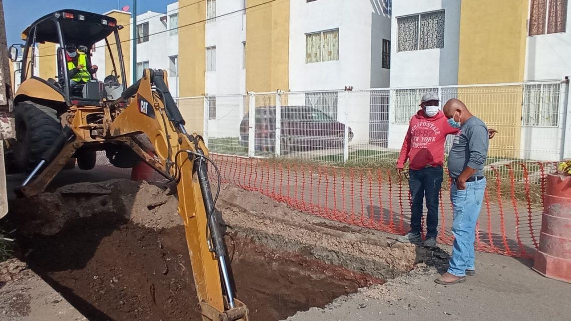 """Importante avance en colector """"Gerardo Murillo"""" en zona sur de Irapuato"""