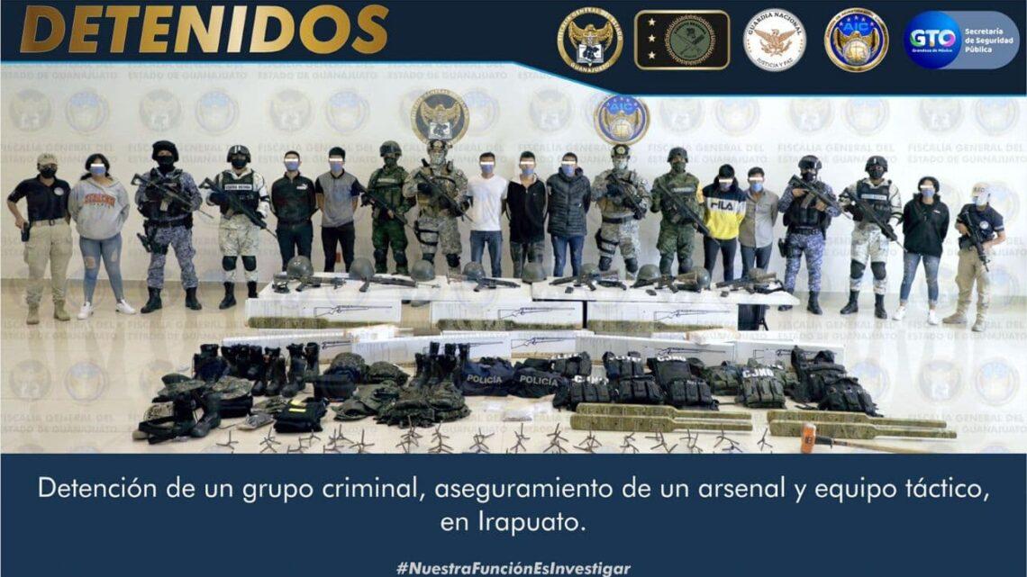 """Detienen a 13 implicados en """"levantón"""" contra militar registrado en Irapuato"""